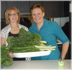 Pam Gunnel and Jenny Bates from the Lochiel Park Community Garden
