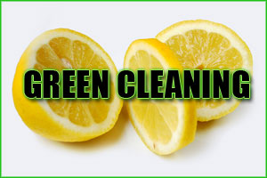 green homemade cleaners
