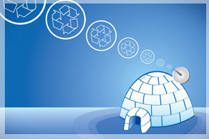 Fun With Recycling: Make a Milk Bottle Igloo!
