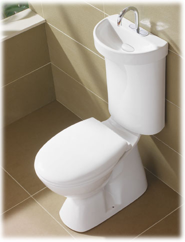 Integrated hand basin Toilet system.