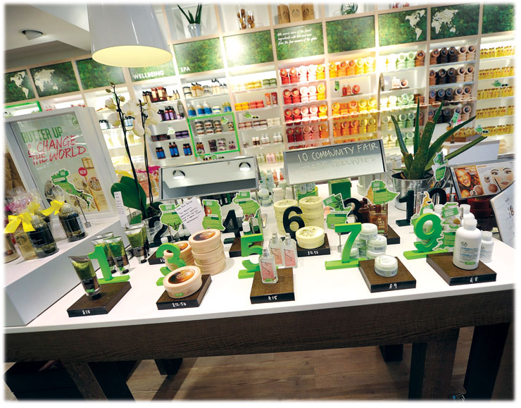 The body shop clothing store