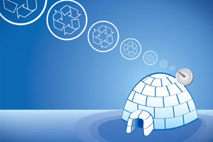 Recycled Milk Bottle Igloo Party