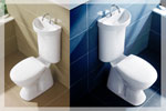 Caroma  5 Star Water Saving Integrated Hand Basin Toilet Suite Profile 5 Deluxe